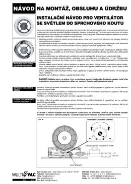 Návod ventilátor SL - E