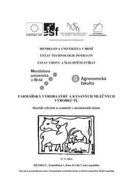 Sborník 2012 – Farmářská výroba