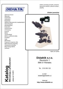 Katalog mikroskopy - podzim 2013