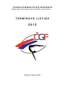 termínová listina 2012