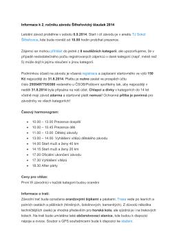 Informace k 2. ročníku závodu Šilheřovický šlaušek 2014 Letošní