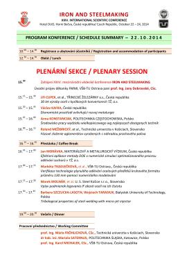Časový program přednášek