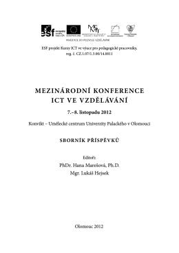 mezinárodní konference ict ve vzdělávání - Kurzy ICT