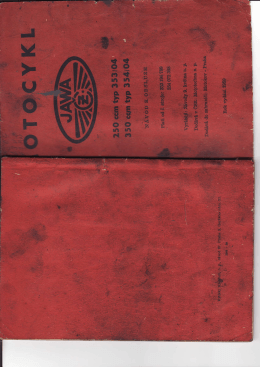 Jawa 250/353 350/354 kejvačka 1959 návod