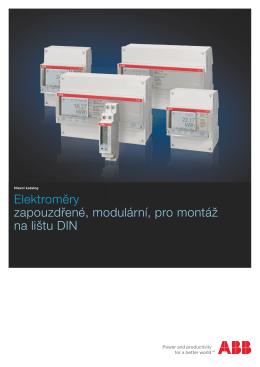 Elektroměry zapouzdřené, modulární, pro montáž na lištu DIN