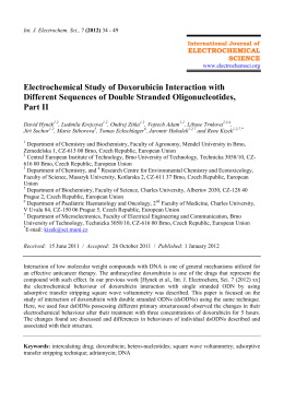 Electrochemical Study of Doxorubicin Interaction with Different