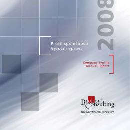 Profil společnosti Výroční zpráva