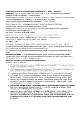 Danonova nemoc (deficit lysosomálního membránového proteinu 2