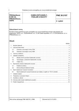 PNE 38 2157 (2. vydání) - KABELOVÉ KANÁLY, PODLAŽÍ A ŠACHTY