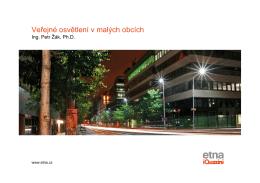 Veřejné osvětlení v malých obcích