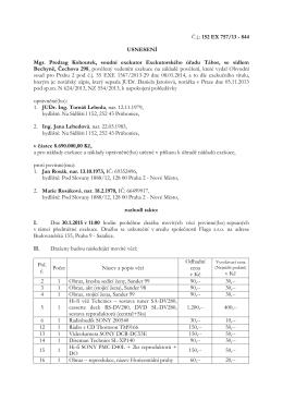 Č.j.: 152 EX 757/13 - 844 USNESENÍ Mgr. Predrag Kohoutek