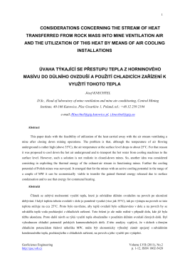 Considerations Concerning The Stream of Heat Transferred From