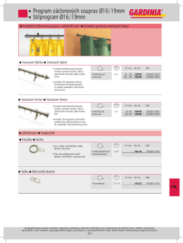 Katalog kovových styl.garnyží - průměr 19mm