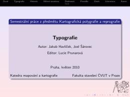 Typografie - Cvut