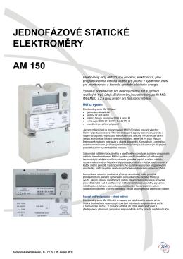 Technická specifikace AM 150