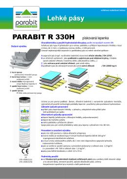 Lehké pásy PARABIT R 330H Lehké pásy