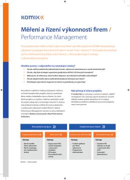 Měření a řízení výkonnosti firem / Performance