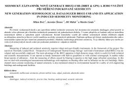 Seismická monitorovací síť pro geotermální vrty v Litoměřicích