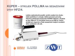 KUPER – ruční strojek POLLMA na dýhy HFZ – 4