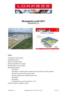 Ekologický audit 2011