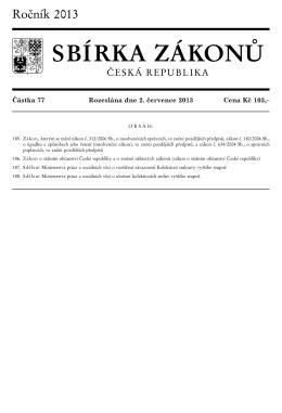 SBÍRKA ZÁKONŮ - Insolvenční zákon