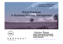 Worst Practices in Business Process Management