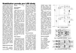 Stabilizátor proudu pro LED diody - návod