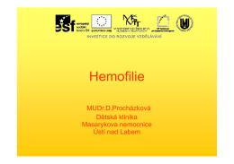Hemofilie - Český národní hemofilický program