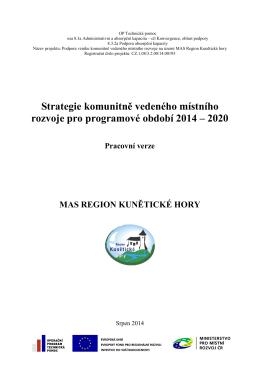 Strategie - Region Kunětické hory