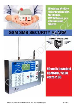 Montážní a programovací návod pro GSM SMS alarm