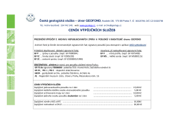 Česká geologická služba – útvar GEOFOND, Kostelní 26, 170 06