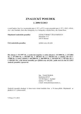 Posudek 2898 52 2013, statek Solopysky, EXEKUTOR Beroun, ze