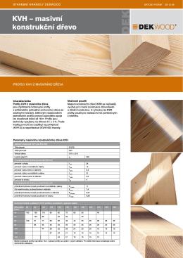 KVH – masivní konstrukční dřevo