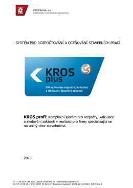 KROS profi - Pro Rozpočty