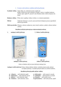Elektrická měření - skripta