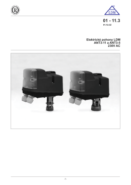 Elektrické pohony LDM ANT3-11 a ANT3