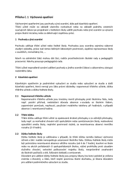 Příloha č. 1 Výchovná opatření