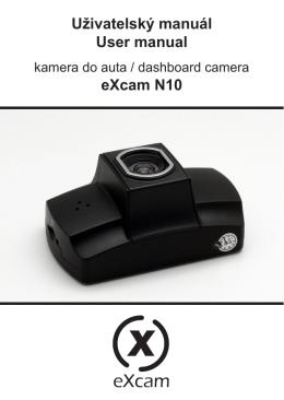Uživatelský manuál User manual eXcam N10