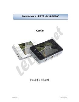 Autokamera K6000 manual