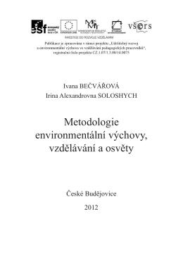 Metodologie environmentální výchovy, vzdělávání a