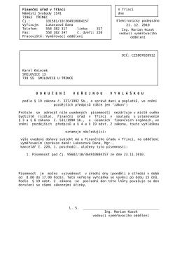 Finanční úřad v Třinci V Třinci Náměstí Svobody 1141