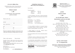 Přihláška - Montanex a.s.