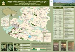 Závěsná mapa VOC Znojmo