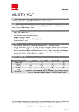 VINITEX MAT- 2,10 - CZ