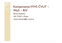 Komponenta VVVS ČVUT – WoS – RIV