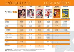 Ceník inzerce - Lifestyle (formát PDF)