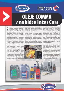 OLEJE COMMA v nabídce Inter Cars