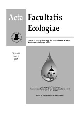 Acta Facultatis Ecologiae