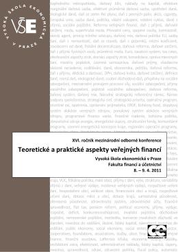 Teoretické a praktické aspekty veřejných financí – kniha abstraktů