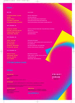 Program Informace www.printforum.cz 17:30 odjezd autobusu k